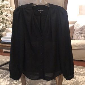 Express Black Long Sleeved Blouse